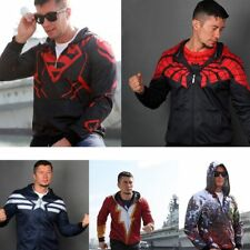 The Avengers Superhero The Flash Spiderman Hoodie Hooded Sweatshirt Coat Jacket