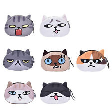 Children Gift Cat Face Coin Purse Kids Wallet Bag Change Pouch Key Holder TO