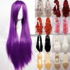 Local Ship Anime Cosplay Wigs 60/80CM Curly Synthetic Hair Full Head Costume Wig