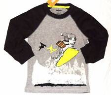 NWT Gymboree Boys Ice All Star Dog Snowboarding Shirt Size 12-18 M & 3T