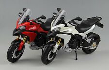 1/12th Diecast Motorcycle Model  Red White For  Maisto DUCATI 1200S Multistrada