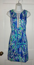 NWT LILLY PULITZER BLUE CRUSH BAMBOOM PENELOPE SHIFT DRESS  8  $198