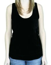 STEVEN ALAN Women's Black Solid Betty Tank Top WST79SB $168 NWT