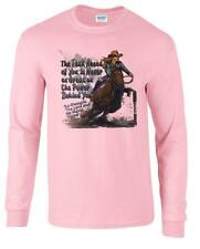 The Task Ahead Power Behind Christian Barrel Racing Cowgirl Long Sleeve T-Shirt