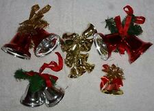5 Vintage 1990s Christmas Ceiling hanging bell Decorations C148