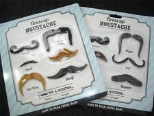 FAKE FALSE MOUSTACHE SET STICK ON FANCY DRESS PARTY DISGUISE STAG/HEN NIGHT