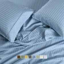 Luxury Unattached Waterbed Striped 650 TC Cotton Wrinkle Free Blend Sheet Sets
