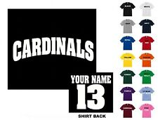 Cardinals College Letters Baseball Custom T-shirt #202 - Free Shipping
