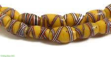 French Cross Venetian Trade Beads Yellow African 24 Inch SALE WAS $48