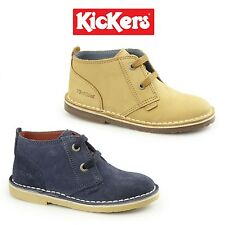 Kickers ADLAR DESERT Kids Suede/Nubuck Leather Casual Comfy Lace Up Desert Boots