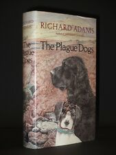 RICHARD ADAMS The Plague Dogs *SIGNED* 1977 1st Edition VG/VG+ (Watership Down)
