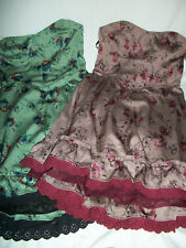 NWT $168 Free People Vintage Floral Strapess Ruffle Dress 4