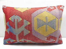 "Turkish Rug Kilim Kelim Lumbar Pillow Cover 20""X14"" Kilim Cushions,Throw Pillows"