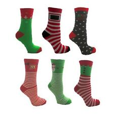 Festive Feet Novelty Christmas Socks Ladies UK Size 4-8 Various Designs