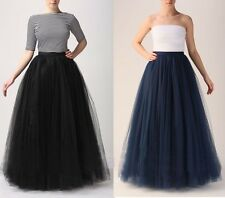 Multi-Layers Long Skirts Summer Tulle Skirt Ball Gown Pleated Women Maxi Tutu