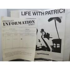 "LIFE WITH PATRICK Persuasion 12"" 4 Track White Label Test Pressing With Inserts"