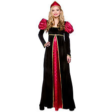Ladies Medieval Queen Costume for Royal Fancy Dress Womens