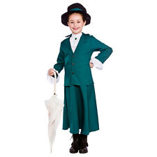 Girls Victorian Nanny Costume for Dickensian Edwardian Fancy Dress Outfit
