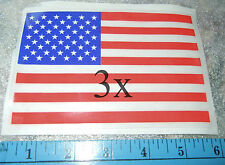Election Pole Vote: Dem Rep Ind  3-Lot American Flag Vinyl Cling-on Decal - USA!