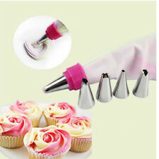 Icing Piping Nozzles Tips Pastry Bag Cake Cupcake Sugarcraft Decorating Tools WB