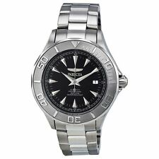 Invicta 7034 Mens Black Dial Analog Automatic Watch with Stainless Steel Strap
