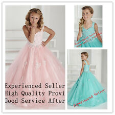 Flower Girl Dresses Wedding Bridal Prom Birthday BallGown Pageant Party Pink 12