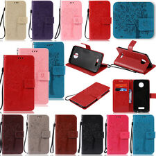 New YPKT Embossing Leather Wallet Case Cover For Motorola Moto Z Droid X Play G2