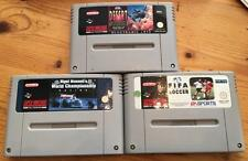 3 x SNES GAME GAMES SUPER NINTENDO DESERT STRIKE NIGEL MANSELL RACING FIFA