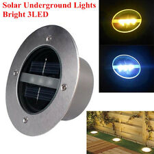 3 LED Outdoor Solar buried lamp Garden lawn Underground Path Walkway Light