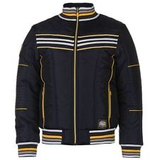 Everlast Mens Colour Contrasting Stripe Jacket Padded Ribbed Full Zip Top