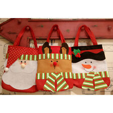 Fashion Merry Christmas Santa Claus Snowman Stocking  Candy Gift Bag Pouch Xmas0