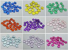 1000 Acrylic FlatBack Mini Flower Gems Rhinestones 4mm Nail Art Pick Your Color