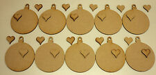 10 WOODEN BAUBLE SHAPES FOR CHRISTMAS TREE - MDF WOOD CRAFT SHAPE BLANKS DECOUPA