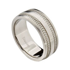 9mm Titanium Dome Top Brushed Comfort Fit Band Men's Jewelry Wedding Ring