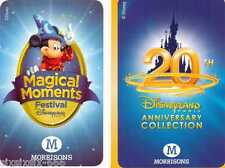 Morrisons Disney Cards - Magical Moments & 20th Anniversary Cards ( NEW CARDS )