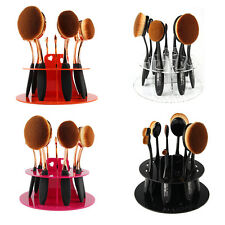 Toothbrush Makeup Brush Drying Holder Organizer Acrylic Display Stand Shelf WB