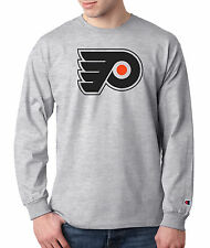 Philadelphia Flyers Champion LONG SLEEVE T-Shirt Tagless T Shirt Mens Adult Tee