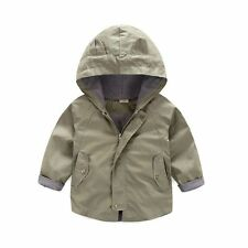 Kids Baby Toddler Boys zipper Hooded Outerwear Jacket autumn Casual Clothes