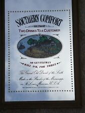 Vintage Retro Southern Comfort Advertising Picture Mirror Bar Pub Man Cave