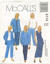 McCalls 4114  Misses Jacket Vest Pants Skirt Sewing Pattern ~ Size 12 14 16 18