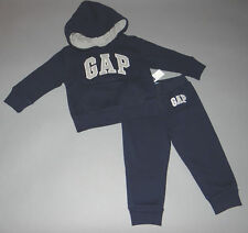 Baby Gap 6-12, 12-18, 18-24 mths 2T, 3T, 4T, 5T Blue Hoodie Pants Outfit New wit