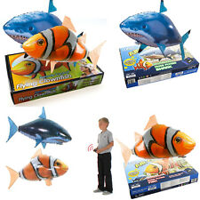 Air Swimmer Remote Control RC Flying Inflatable Fish Shark Blimp Balloon TOY New