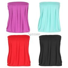 Angvns New Sexy Strapless sleeveless Pleated Top Clubwear Party Tube Top DZ88