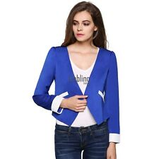 Fashion Women Business Suit Casual Lady Coats Long Jackets Spring V Neck Tops
