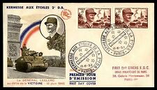 France Kermesse Aux Etoiles 1953 FDC Tank Cachet First Day Of Issue