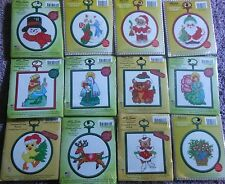 CHOOSE ONE: MCG TEXTILES MINI COUNTED CROSS STITCH KITS WITH FRAMES - CHRISTMAS