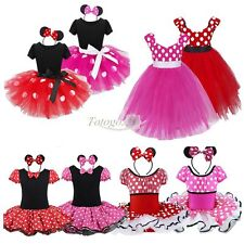 Baby Girls Kids Minnie Mouse Christmas Costume Party Fancy Tutu Dress up Clothes