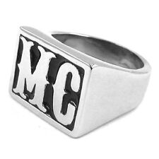 MC Motorcycle Club Biker Outlaw Sons solid stainless steel Ring Seal NEW TOP