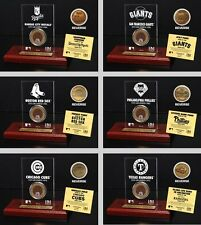 Choose MLB Team Stadium Infield Dirt Medallion Coin with Etched Acrylic Display