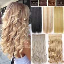 Premium Long Thick 1Pcs Clip In Hair Extensions 100% Real As Remy Human Hair T53